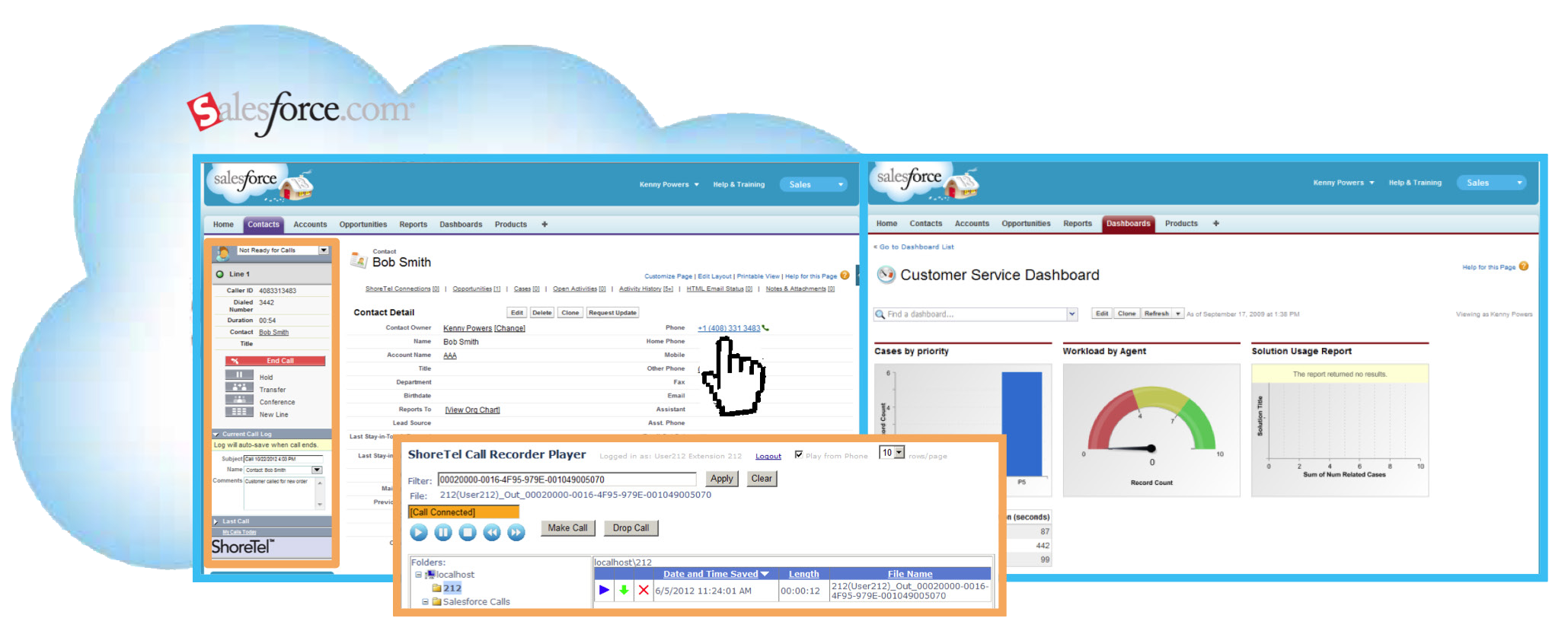 image - advanced application - ShoreTel Salesforce.com™ Call Center Adapter